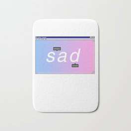 Sad Aesthetic Vaporwave Gift Notepad Window Emotional design Bath Mat