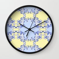 baroque Wall Clocks featuring Baroque by Charlotte Goodman