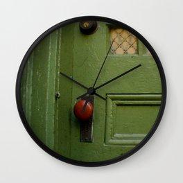 The Red Doorknob Wall Clock