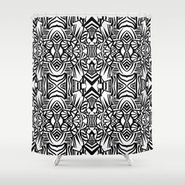 Tiki Totem Shower Curtain