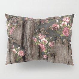 Wood Flowers Mapamundi Pillow Sham