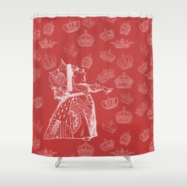 Queen of Hearts and Crowns Shower Curtain