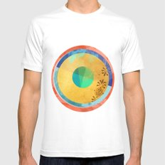 Half Quater Hue Mens Fitted Tee SMALL White