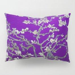 Vincent van Gogh Blossoming Almond Tree (Almond Blossoms) Amethyst Sky Pillow Sham
