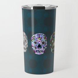 Sugar Skull Abstract Travel Mug