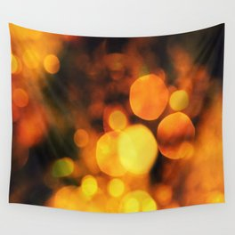 Coloured Bokeh Wall Tapestry