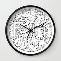 faith Wall Clocks featuring Faith by Gosia&Helena