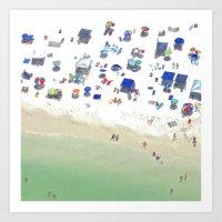 The Beach: Holding Hands Art Print