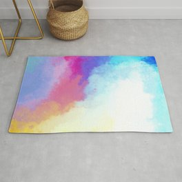 Abstract Fantasy Magical Clouds Painting Rug