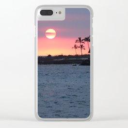 Kona Sunset Clear iPhone Case