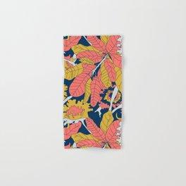 Limited Color Palette Bold Jungle Leaf Floral Hand & Bath Towel