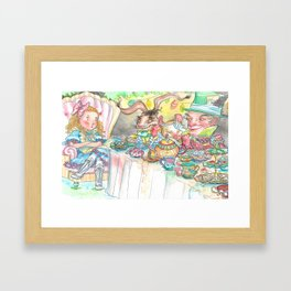 Alice's Mad Tea Party Framed Art Print