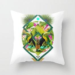 ▲ TROPICANA ▲ by KRIS TATE x BOHEMIAN BLAST Throw Pillow
