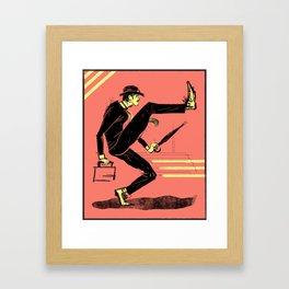 Silly Walk Framed Art Print