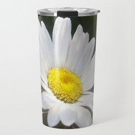 Close Up of a Margarite Daisy Flower Travel Mug