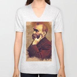 Alfred Nobel, Inventor Unisex V-Neck