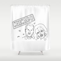 chicago Shower Curtains featuring Chicago by elle stone