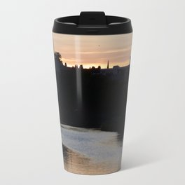 Sunset over Leith Edinburgh Travel Mug