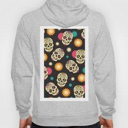 Hipster Skull - Hipster Skeleton - Funky Skull Pattern - Pattern Hoody