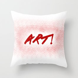 Art! Throw Pillow