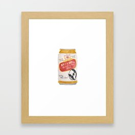 Natty Boh Cold One Baltimore Watercolor Framed Art Print
