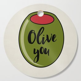 Olive You I Love You Funny Cute Valentine's Day Art Cutting Board