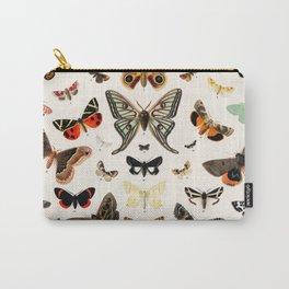 Butterfly Butteflies Mariposa Mariposas Papillon Papillons - Vintage Book Illustration Carry-All Pouch