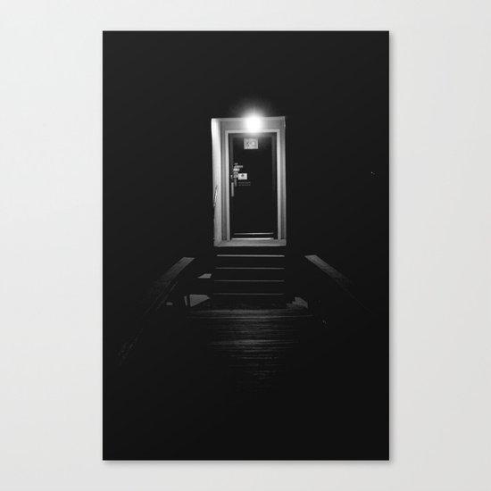 Doorway in the Dark Canvas Print