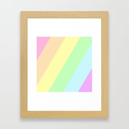 Pastel Rainbow Framed Art Print