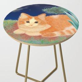 Moonlight Orange Cat Side Table