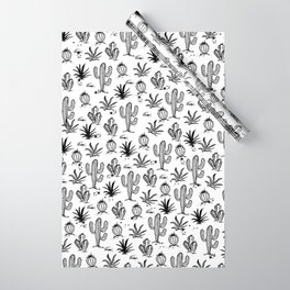 Cactus Sketch Wrapping Paper