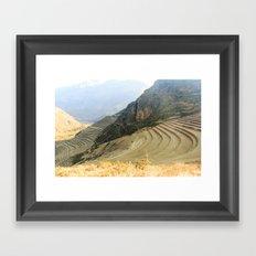 Incan Terraces Framed Art Print
