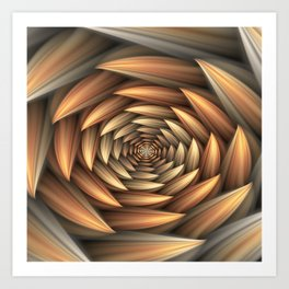 Fractal Buds Tunnel Art Print