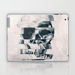 Glitch Skull Mono Laptop & iPad Skin