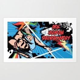 Row Row Dashing Power Art Print