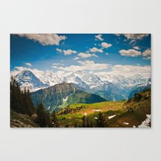berner oberland, switzerland Canvas Print