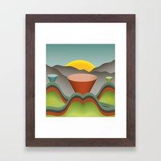 Technicolor Landscope Framed Art Print