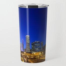 Silhouette Chicago skyline Travel Mug