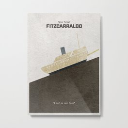 Fitzcarraldo Alternative Minimalist Poster Metal Print