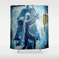 peter pan Shower Curtains featuring Peter Pan by ANoelleJay