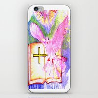 bible iPhone & iPod Skins featuring THE HOLY BIBLE by KEVIN CURTIS BARR'S ART OF FAMOUS FACES