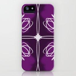 Purple Fade Lines iPhone Case