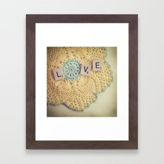 Love. Again. Framed Art Print