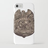 larry david iPhone & iPod Cases featuring Larry David - Wood Detective  by Florentinasaurus