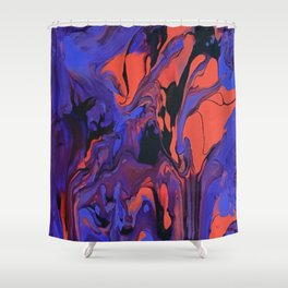 Blue, Teal and Orange Fantasy Shower Curtain