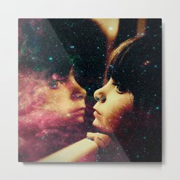 Face in the Space Metal Print