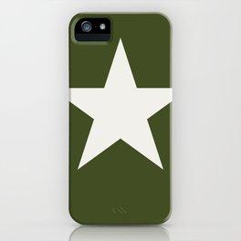 Vintage U.S. Military Star iPhone Case