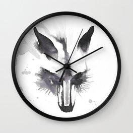 October Fox Wall Clock