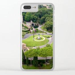 Vatican Gardens Clear iPhone Case