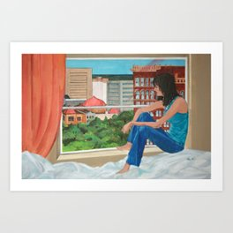 I Watched You Taking Off Art Print